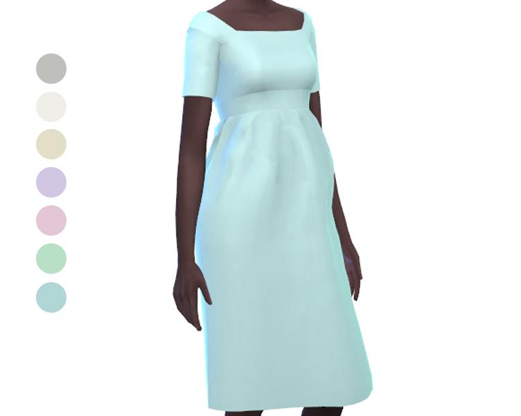 Dress - Mid Length - Short Sleeve - Pastel Odalie