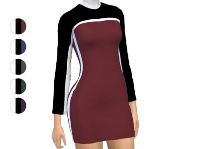 Dress - Long Sleeve - Short Length Sana