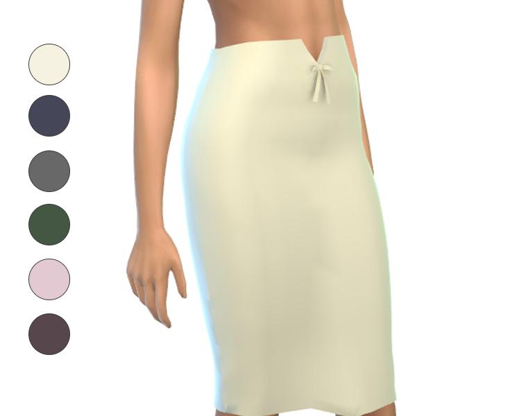 Skirt - Mid - High Waisted with tiny bow