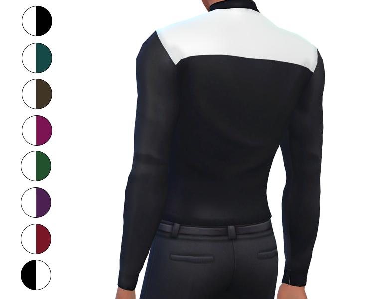 Top - Color Block Dress Shirt
