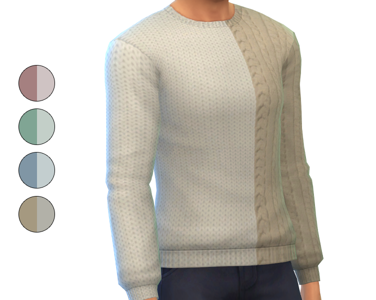 Top - Two Tone Sweater Recolor