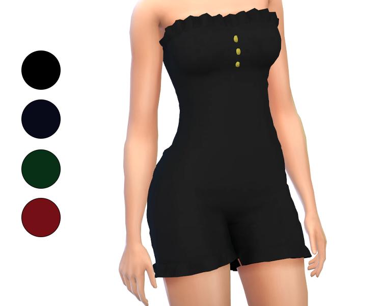 Outfit - Sleeveless Ruffle Short Jumpsuit