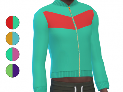 Top - Track Suit - Color Block