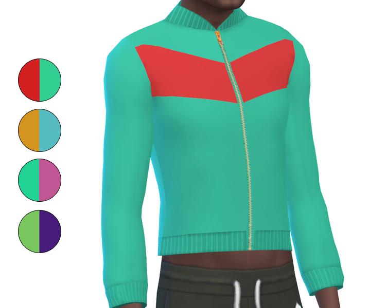 Top - Track Suit - Color Block
