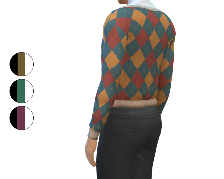 Outfit - Cardigan with Sweatpants and Turtleneck